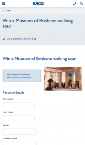 RACQ – Win One of Six Double Passes to One of The Museum of Brisbane's Storytellers Walking Tours (prize valued at $50)