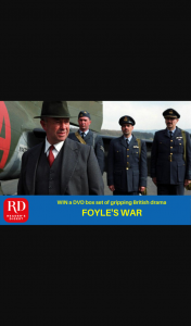 Reader's Digest – Win One of 3 DVD Box Sets of The Completely Remastered Foyle's War