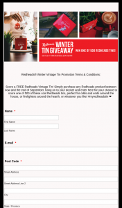 Redheads – Win One of Five Hundred Vintage Redheads Tins