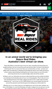 Repco Australia- Register for Repco Real Rides Virtual Car Show & – Win The Hilux (prize valued at $30,000)