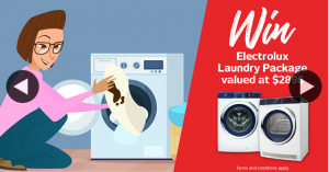 Retravision – Win The Hygiene Battle and Win a $2896 Electrolux Laundry Package (prize valued at $2,896)