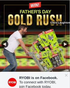 Ryobi – Win a Diyer's Dream Dash (prize valued at $3,000)