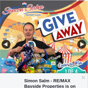Simon Salm Re-Max Bayside Properties – Win 1 of 4 Ekka Showbag Packs