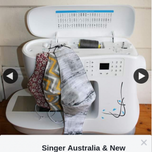 Singer Australia & New Zealand – Win a $50 Voucher for Use at Singerco