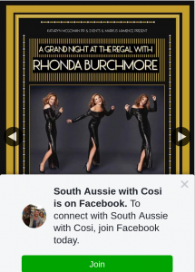 South Aussie With Cosi – Win a Double Pass to See Rhonda Burchmore at The Regal??