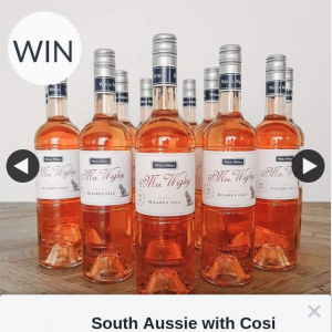South Aussie With Cosi – Win 12 Bottles of Mrs Wigley Rose Worth Over $200 Thanks to The Team at Aura By Livewell Communities