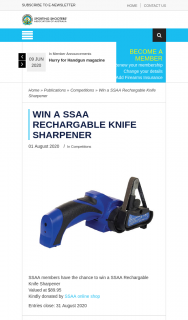 SSAA – Win a Ssaa Rechargable Knife Sharpener (prize valued at $89.95)