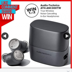 Stack magazine – Win One of Two Pairs of Audio-Technica True Wireless Active Noise-Cancelling In-Ear HeaDouble Passhones