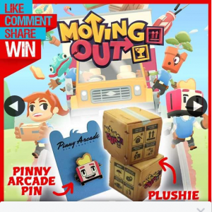 Stack magazine – Win The Major Prize of Two Moving Out Box Plushies a Moving Out Pinny Arcade Pin