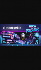 Steel Series ANZ – Win 1 of 3 Steelseries Neon Rider Limited Edition Prize Packs Including a Sensei Ten Ambidextrous Gaming Mouse & Qck Prism Xl Rgb Gaming Mouse Pad (prize valued at $3)