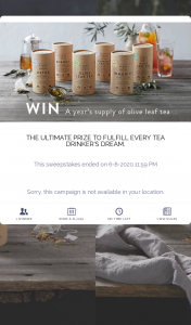 Stone & Grove – Win a Year's Supply of Delicious (prize valued at $800)