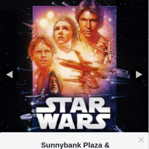 Sunnybank Plaza & Sunny Park – Win a Double Pass to See Star Wars a New Hope