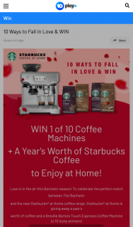 Channel Ten – Win 1 of 10 Coffee Machines (prize valued at $23,000)