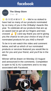 The Sleep Store – Win Your Choice of Any of Our Nominated Products for You and a Friend