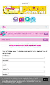 Total Girl – Win 1/13 Frootiez Prize Packs (prize valued at $507)