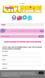Total Girl – Win 1/30 Gemma Riley and The Fashion Fiasco Books (prize valued at $510)