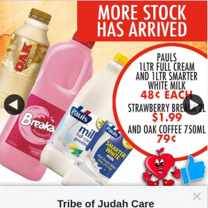 Tribe of Judah Care – Win a $100 In Store Gift Voucher (prize valued at $100)