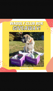 Waggly Club Box – Win a 6-month Waggly Club Subscription Boxes of Their Choosing (original (prize valued at $1,620)