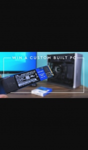 Western Digital – Win The Stuart Tonks X Wd Blue Sn550 Nvme Ssd Custom-Built Pc (prize valued at $2,000)