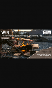 Wild Earth – Wolf & Grizzly – Win The Ultimate Campfire Cooking Set for Father's Day