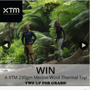 Wildfire Sports & Trek – Win a Xtm 230gm Merino Wool Crew Neck Thermal Top