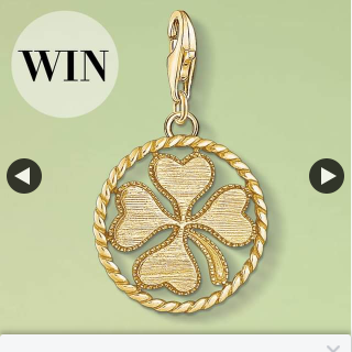 Win Our Yellow-Gold Cloverleaf Charm Pendant From Our Charm Club Collection Again