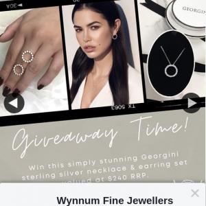 Wynnum Fine Jewellers – Win Georgini Sterling Silver & Earring Set