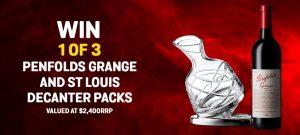 Bottlemart – Win 1 of 3 bottles of Penfolds Grange & Saint Louis Aevum Limited Edition Decanter