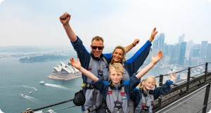 "Flexischools – Win 1 of 3 Family passes to a ""BridgeClimb Unlocked' Day climb experience for 4 people"