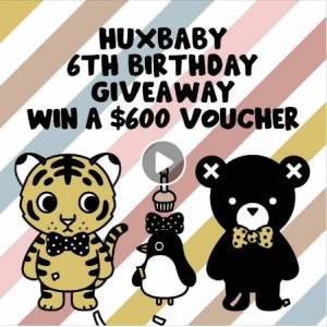 Huxbaby – Win a $600 voucher