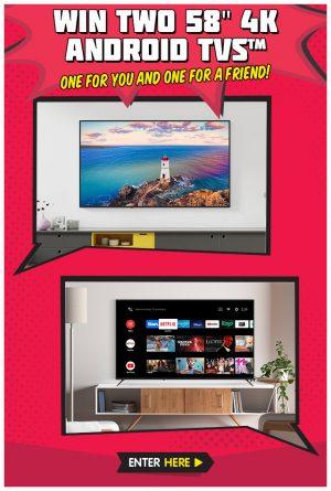 Kogan Australia – Win 2 Kogan 58″ Smart TVs