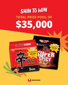 Nongshim Australia – Win 1 of 2 major prizes of $5,000 cash each OR 1 of 160 minor prizes