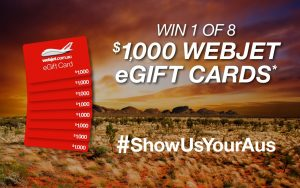 Webjet – Regional Discovery – Win 1 of 8 Webjet e-gift cards valued at $1,000 each