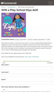 ABC – Win a Play School Kiya Doll