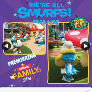 Adelaide Family Show – Win 1 of 3 Smurfs Family Pass Giveaway