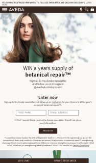Aveda – Win a Years Supply of Botanical Repair™ (prize valued at $1,446)
