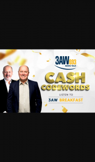 3AW – Win $1000 Cash (prize valued at $15,000)