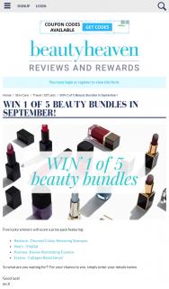 Beauty Heaven – Win 1 of 5 Beauty Bundles In September