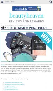 Beauty Heaven – Win 1 of 3 Skinbox Prize Packs