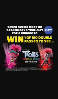 Big W – Win 1 of 100 Double Passes at Big W