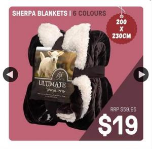 Bodero – Win 1/2 Sherpa Blankets