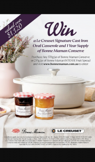 Bonne Maman Le Creuset – Win a Le Creuset Prize Pack Valued at $1120.80 In Total (prize valued at $1,120.8)