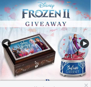 Bradford Exchange Australia – Win and to Choose Between The Frozen 2 Glitter Globe Or The Frozen 2 Music Box