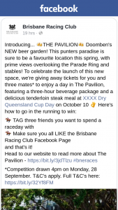 Brisbane Racing Club – Win 4 X Tickets to The Pavilion on Xxxx Dry Qld Cup Day [closes 359pm]