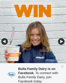 Bulla Family Dairy – That Is Helping You (prize valued at $1,400)