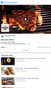 Butcher Shop – Win a $100 Voucher to Spend In-Store (prize valued at $100)