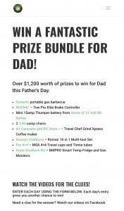 Caravan and Camping SA – Win a Fantastic Prize Bundle for Dad (prize valued at $1,200)