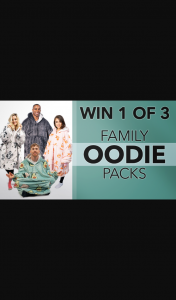 Channel 7 – Sunrise – Win a Family Pack Containing Four Oodies