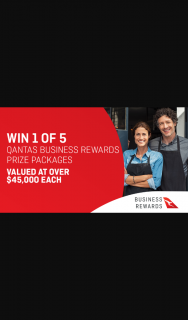 Channel 7 – Sunrise – Win One of Five Qantas Business Rewards Prize Packages Valued at $45000 Each (prize valued at $241,017)