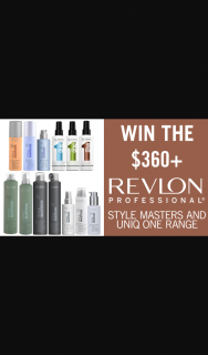 Channel 7 – Sunrise – Win The Ultimate Professional Styling Range From Revlon In this Week's Sunrise Family Newsletter